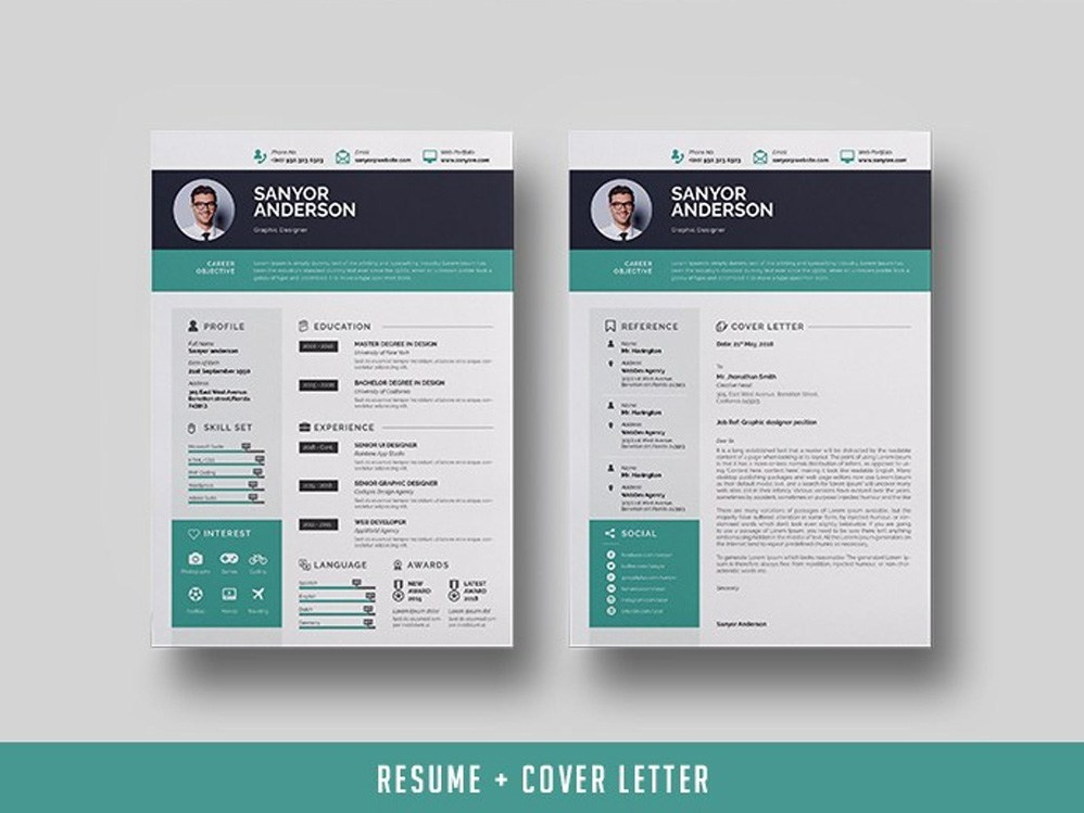 Free Infographic Resume Template + Cover Letter by Andy ...