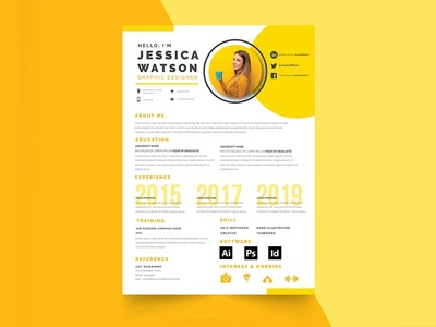 Free Yellow Resume Template