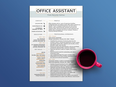 Free Office Assistant Resume Template