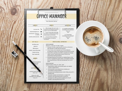 Free Office Manager Resume Template