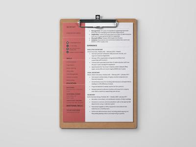 Free Secretary Resume Template