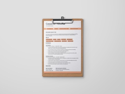 Free Carpenter Resume Template