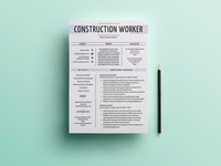 Free Construction Worker Resume Template