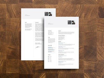 Free Simple Resume Template + Cover Letter