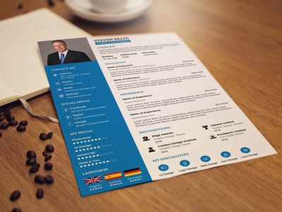 Free A4 Professional Resume Template