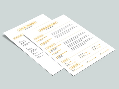 Free Two Pages Resume Template