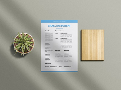 Free Blue Minimal Resume Template with Cover Letter