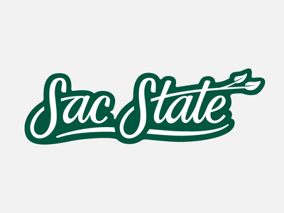 Sac State Snapchat Geofilter hand lettering type typography lettering