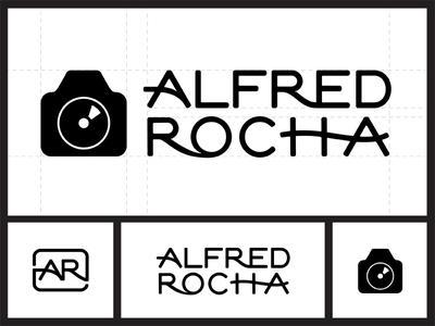 Alfred Rocha Photography logo design hand lettering symbol signature monogram logo branding lettering