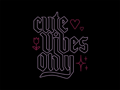 Cute Vibes Only typography type emojis emoji vibes cute logo lettering handlettering