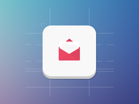 Mail Icon mail icon ios ios7 icon mail soft osmanince icon wireframe ui flat