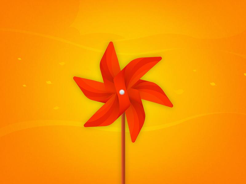 Pinwheel osmanince pinwheel windmill red osmanine autumn texture orange leaf wind clouds