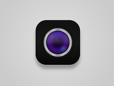 Camera Icon camera icon ios sketchapp cam purple black icon clean lens freebie