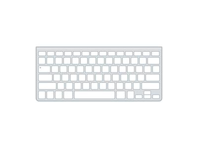 Magic Keyboard vector icon flat illustration keyboard magic apple