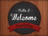 Rumratings Ranking Badge Design
