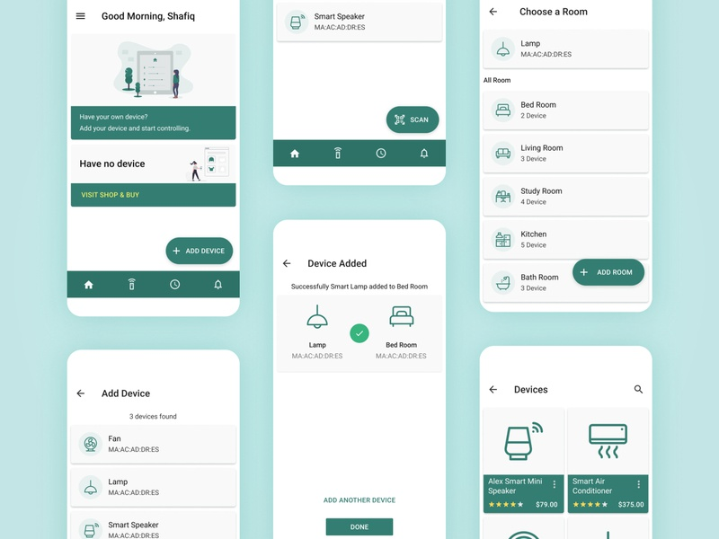 Smart Home App - Device Add & Online Store iot material design material ui material devices iot app smart smart devices smart home apps android apps design ux design appdesign application design uiux ui  ux uiuxdesign ui