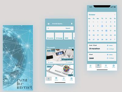 Event live internet ux ui icon design app