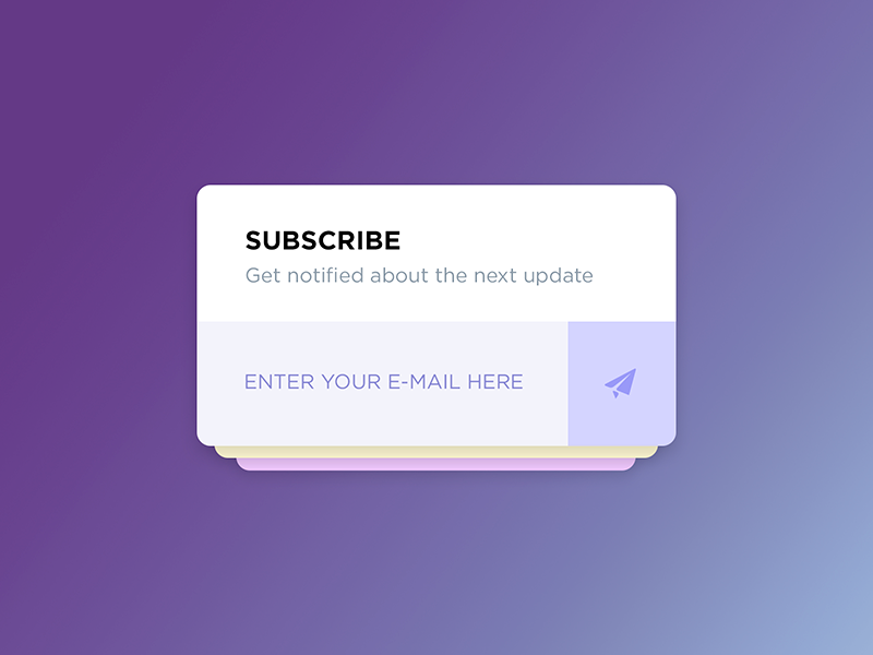 Subscribe Form card input design flat dailyui web ui button form subscribe