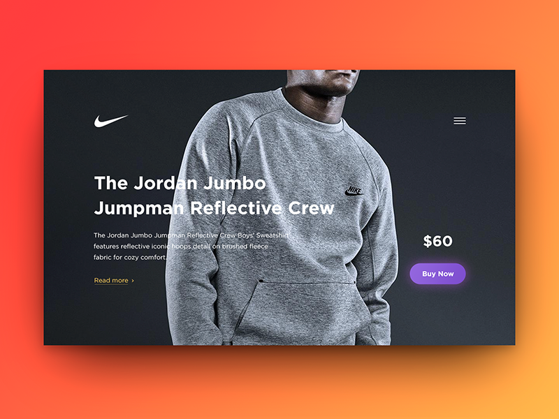Special Offer offer card nike sale ecommerce buy widget dailyui ux ui