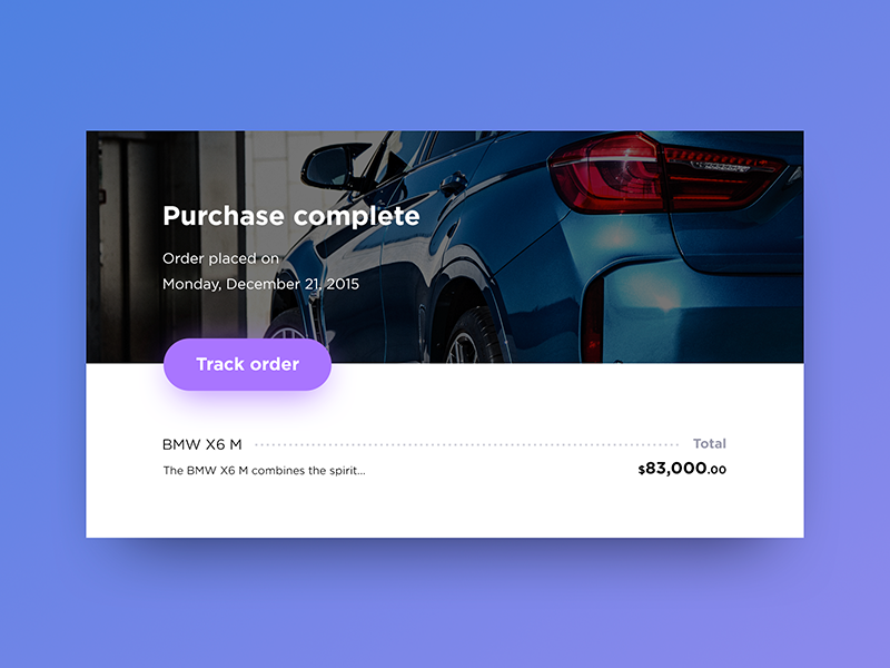Purchase complete dailyui ux ui order complete purchase
