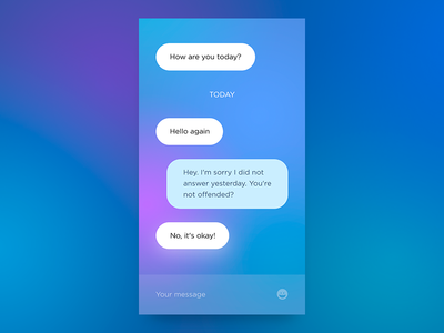 Chat App dailyui colors ux ui app
