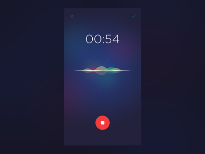 Recording app siri dailyui ui ios app sound voice recording