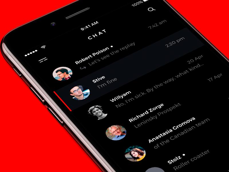 Messages flat list chat messages ui app