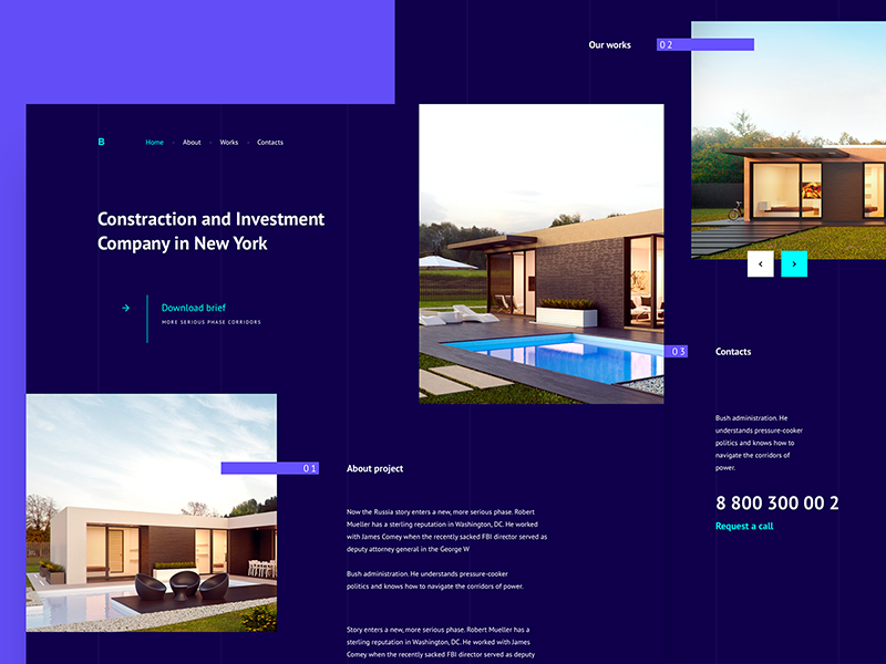 Concept for real estate site theme web button real estate typography flat ux ui