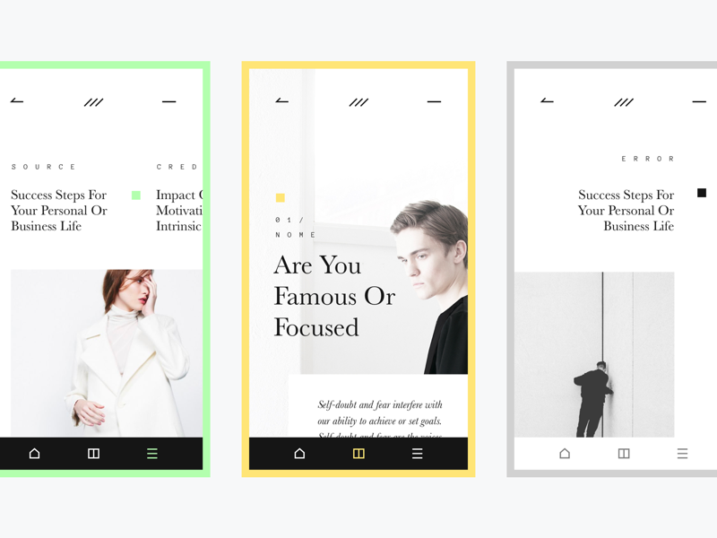 Fashion Magazine fashion concept typography layout ui app
