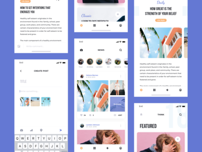 Think UI Kit – Feed