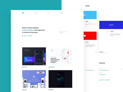 Personal Site Update cv typography layout homepage design ui web portfolio personal
