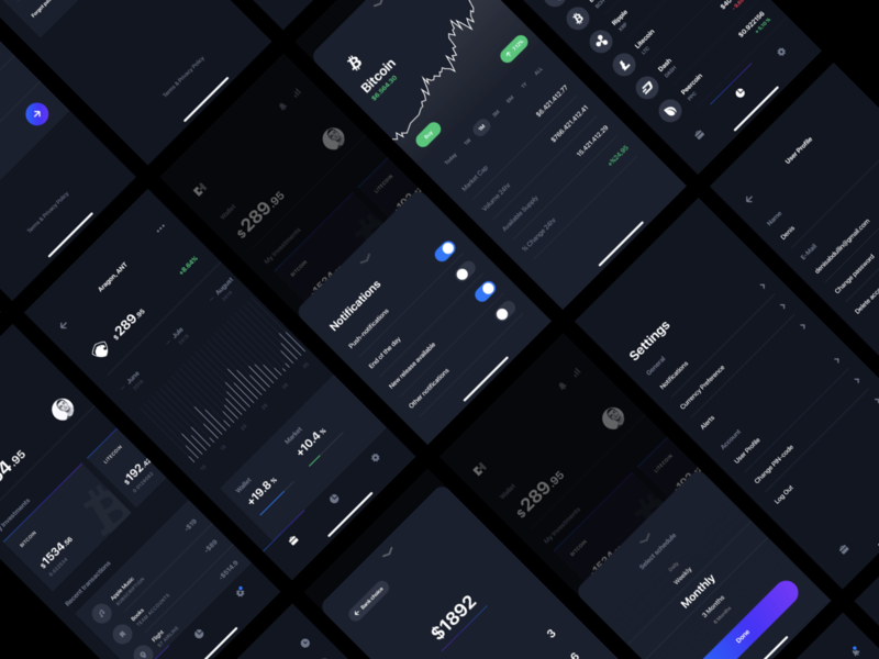 Presentation for Chain UI Kit app wallet stats payment money mining ios dashboard currency crypto card