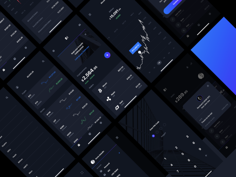 More Details for Chain UI Kit dark app layout graph chart finance mining ios app ui kit cryptocurrency