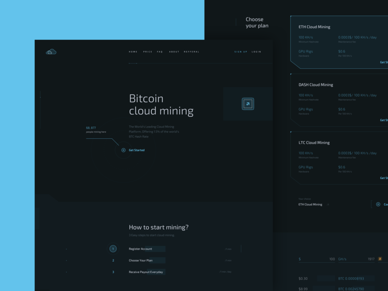 Cryptocurrency Mining Landing website homepage webpage landing crypto web logo ux ui