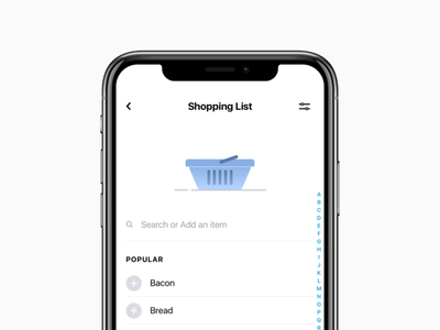 Shopping List for Tappsk todo ios ux ui app animation todo list shopping list task manager tappsk