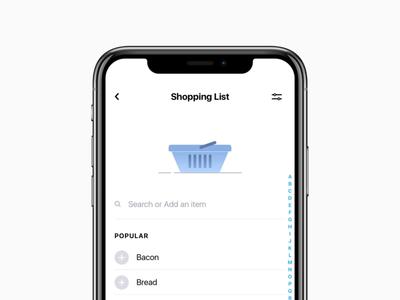 Shopping List for Tappsk