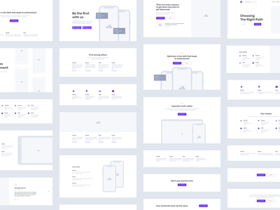 Containers Wireframe Kit adobe xd figma sketch landing prototype wireframe kit wireframe web ux ui