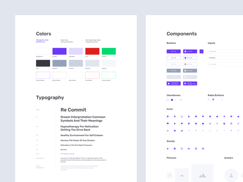 Containers Wireframe Kit Styles
