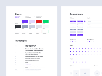 Containers Wireframe Kit Styles adobe xd sketch figma web prototype wireframe kit components guidelines ui kit typography styleguide