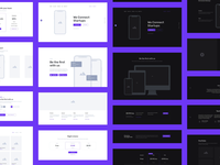 Containers Wireframe Kit design web prototype ux ui interface layouts wireframes animals