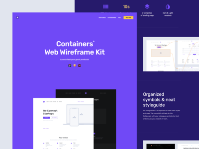 Site for Containers Web Wireframe Kit