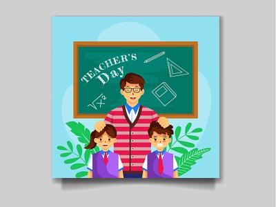 My latest Project Happy Teacher Day Social media Design 3d branding motion graphics graphic design animation ui logo illustration happy greeting education design celebration back to school back school happy teacher day teacher day