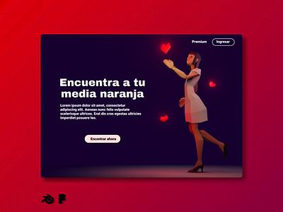 Half orange graphic design ux web branding 3d ui