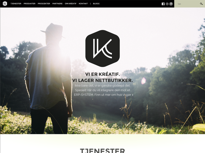 Kréatif website redesign website splash