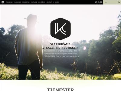 Kréatif website redesign