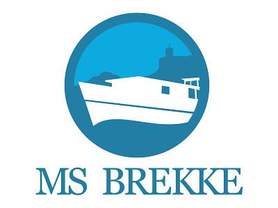 MS Brekke logo boat sea identity logo