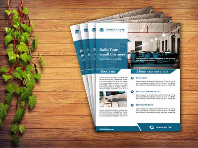 Creative corporate business flyer profile