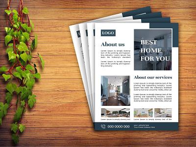 Simple real estate home sale flyer design profile