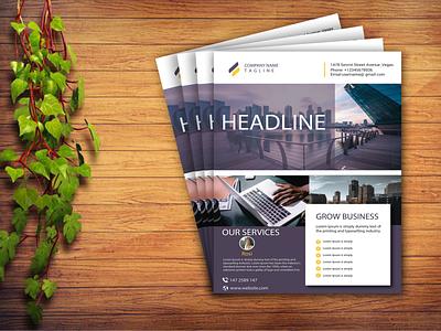 Business flyer design profile