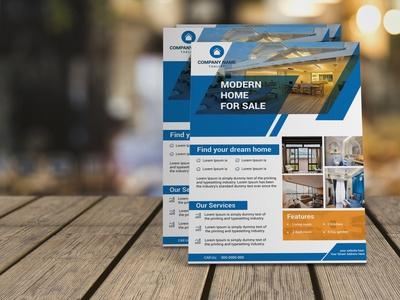 Real estate flyer design real estate post card company services professional corporate building contraction event flyer home sale property flyer print ready a4 template design real estate flyer graphic design banner creative brochure design business flyer branding profile
